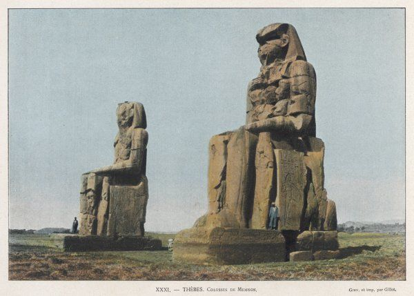 The gigantic figures of Amenhotep III at Thebes. The Greeks saw a likeness to the legendary Memnon