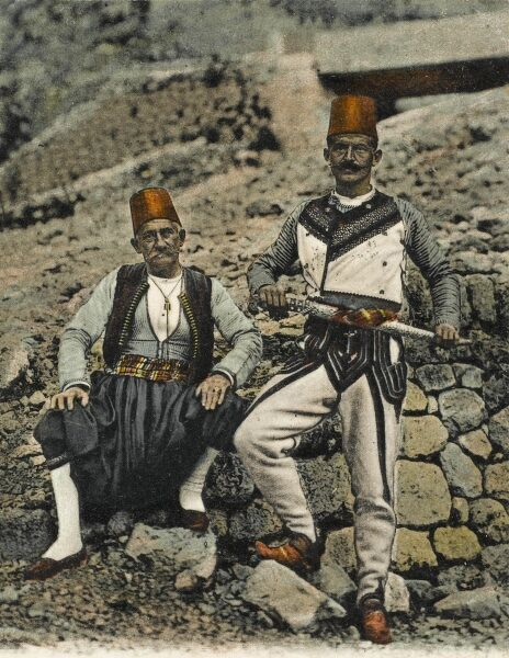 Two men in Albanian National Costume