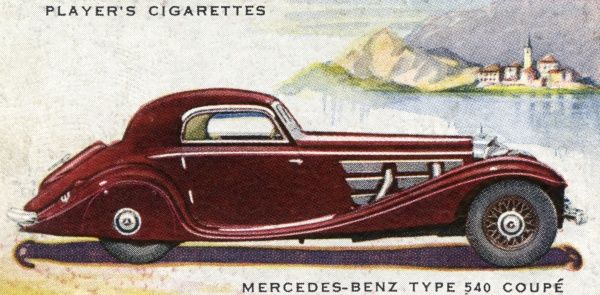 A handsome two-door coupe, super-charged for high performance, and costing you a stunning two thousand pounds plus - the price of a dozen family saloons ! Date: 1937