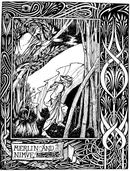 Merlin and Nimue Date: 1893 - 1894