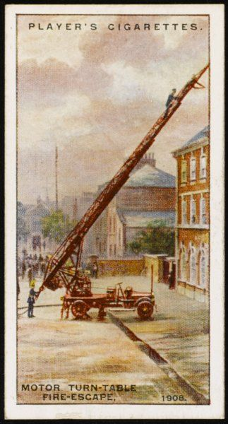 In 1908 Merryweathers designed and constructed the first motor fire-ladder built on the one-engine principle, using the same motor which propelled the vehicle