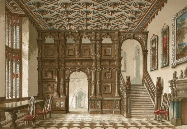 Interior of Methley Hall, Yorkshire Date: circa 1845