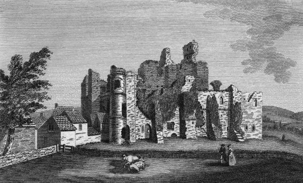Middleham Castle, Yorkshire Date: 1790