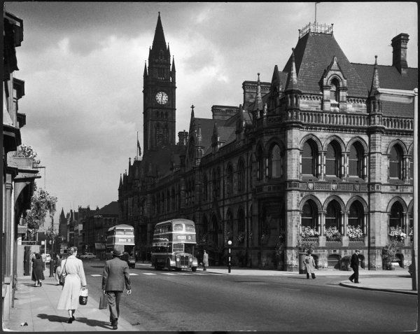 Middlesbrough Town Hall, a typical Victorian municipal building, with a lofty clock tower, was officially opened by Edward, Prince of Wales later Edward VII), in 1889
