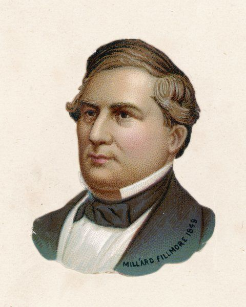 MILLARD FILLMORE 13th President of the United States of America (1850-3)