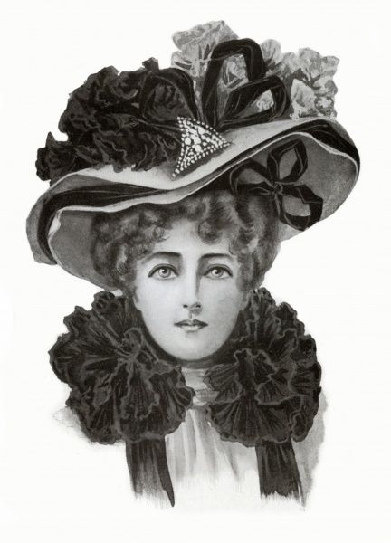 Millinery fashion figure 1903 Date: 1902