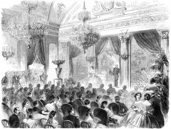 Official concert at the Ministry of Justice, Paris. Date: 1862