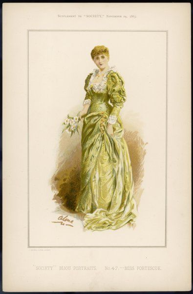 MISS FORTESCUE almost cerainly an actress