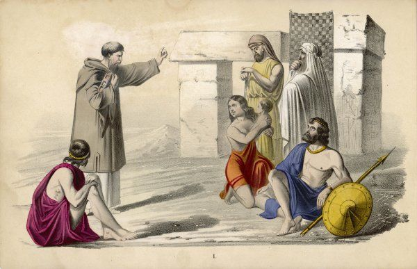A Missionary preaching to the ancient Britons