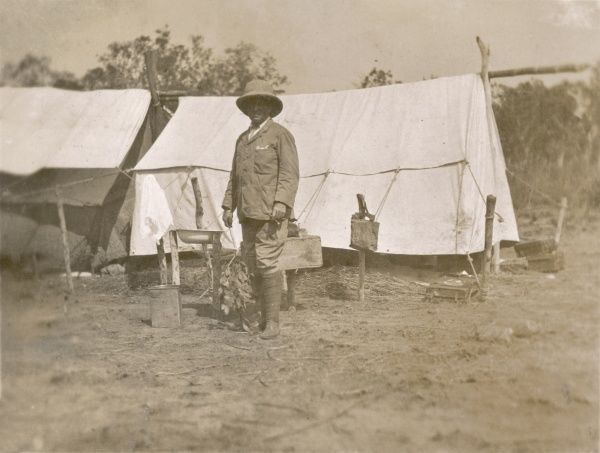 Mission doctor in an outback camp in Australia