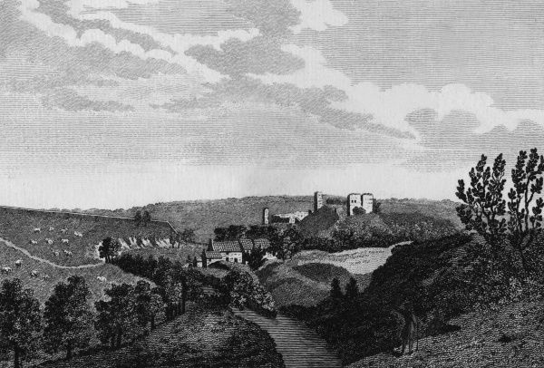 A distant prospect of Mitford Castle, Northumberland Date: circa 1770