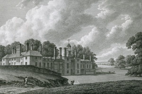 The Moat, Kent, the seat of Lord Romney -- it appears to be located near Romney Marsh. Date: 1783