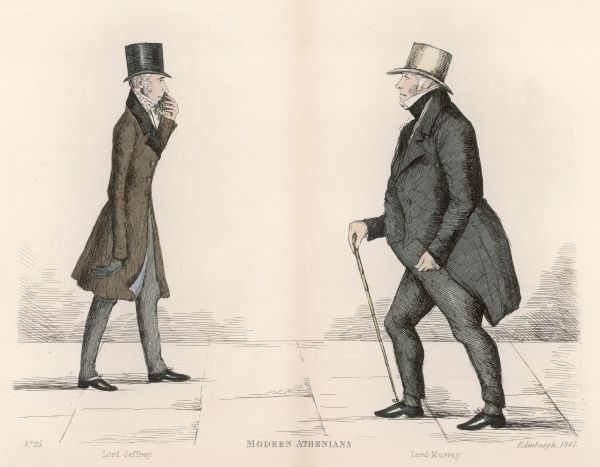 The Hon. Francis, Lord Jeffrey (1773-1850) a Scottish judge and literary critic, approaching Sir John Archibald, Lord Murray (1779-1859) a Scottish judge