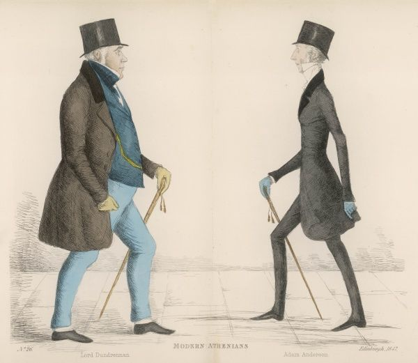 Thomas Maitland, Lord Dundrennan (1792-1851) a Scottish lawyer and judge, approaching Adam, Lord Anderson (1797-1853) solicitor-General, Dean of Faculty, and judge