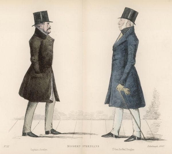 Capt. The Honorable Augustus G. F. Jocelyn (d. 1847) approaching Lieutenant General Sir Niel Douglas (1790-1853) commander and chief of the British army