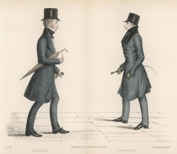Duncan McNeill, 1st Baron Colonsay (1793-1874) Scottish judge, passing John Learmonth (1789-1858) politician, coachbuilder and builder of the Dean Bridge at at personal cost of 30,00&quot