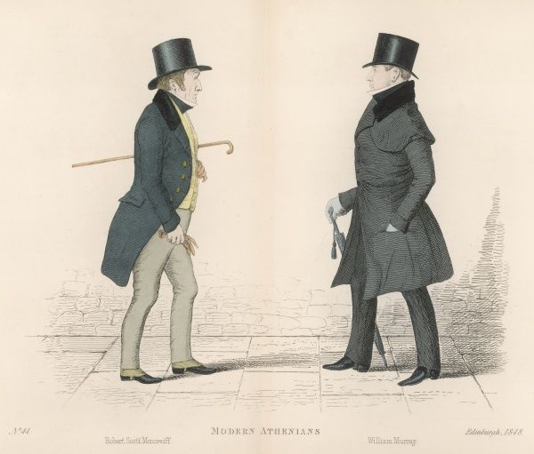Mr Robert Scott Moncrieff, approaching his great friend William Henry Murray (1790-1852) who along with his sister Mrs. Henry Siddons, managed the Theatre Royal in Edinburgh