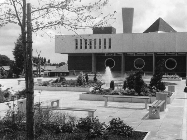 'Modern' Municipal Offices at Bebbington, Cheshire, England. Date: 1960s