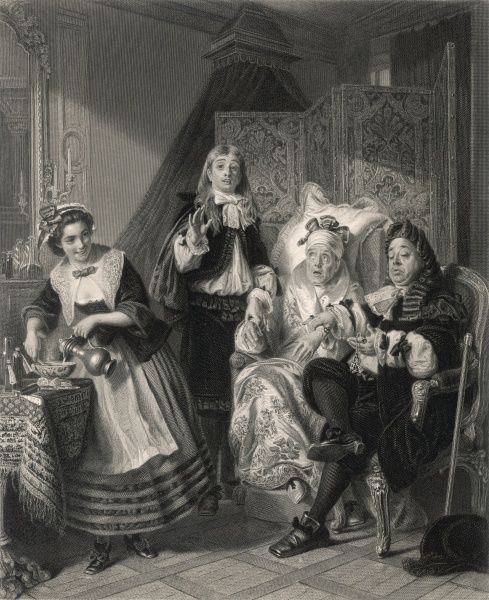'LE MALADE IMAGINAIRE' The imaginary invalid, his doctors and his maidservant