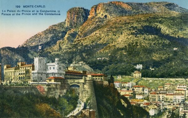 Monaco - Monte Carlo - The Prince's Palace and the Condamine (the second oldest district in Monaco)