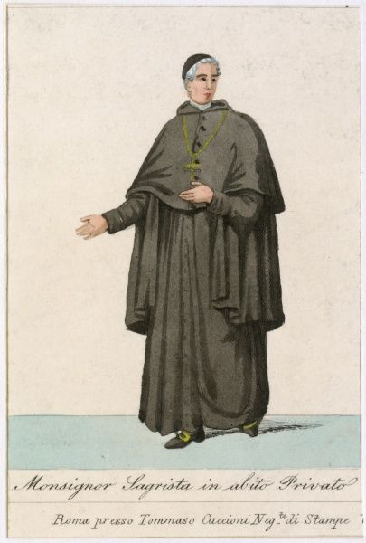 MONSIGNOR SAGRISTA IN ABITO PRIVATO a monsignor sagrista in his everyday dress