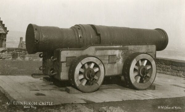 Mons Meg Cannon - Edinburgh Caste. A medieval weapon of mass destruction (!) made to the order of Philip III, Duke of Burgundy circa 1449 and sent as a gift to King James II of Scotland, with other artillery supplies