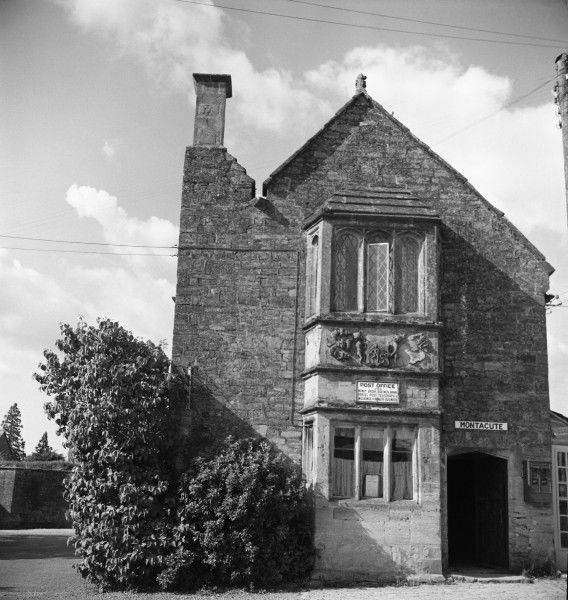 A Post Office situated within an elegant Elizabethan building at Montacute, South Somerset. Photograph by Norman Synge Waller Budd