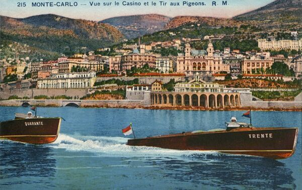 Monte Carlo (Monaco) - view of the Casino and the Tir aux Pigeons (tunnel)