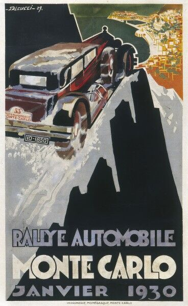 A poster for the Monte Carlo rally of January 1930
