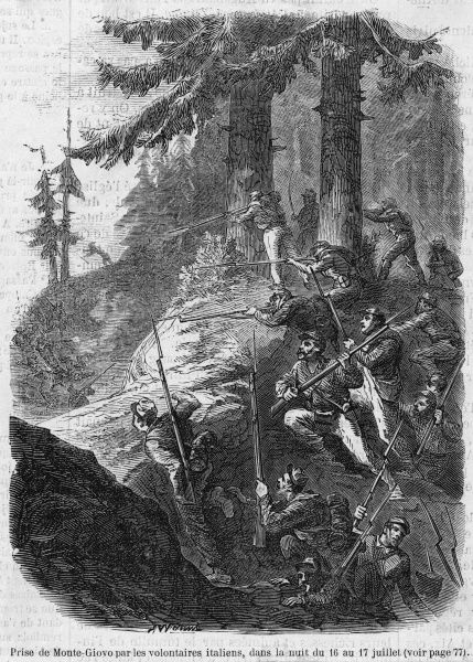 Italian volunteers take Monte- Giovo from the Austrians