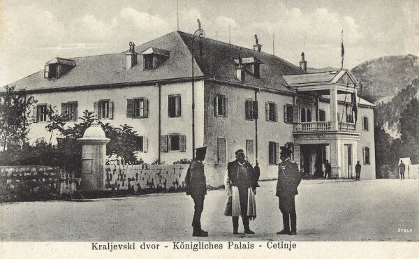 National Museum of Montenegro at Cetinje - Former Palace of King Nicholas I Date: circa 1910s