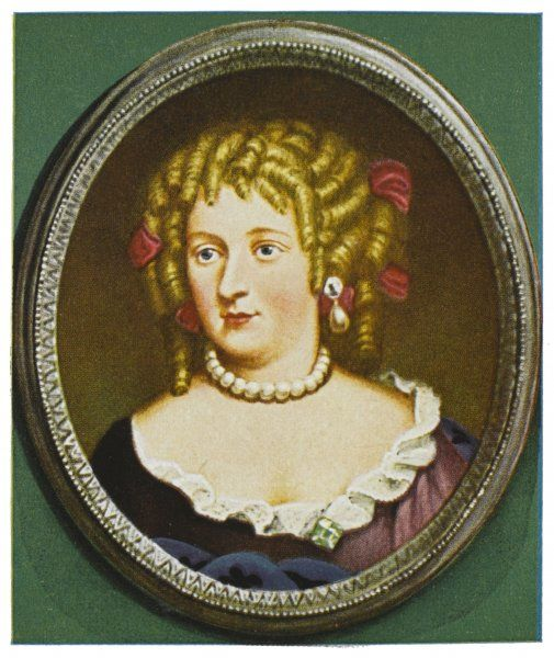 FRANCOISE-ATHENAISE ROCHECHOUART DE MORTEMART alias MME DE MONTESPAN Mistress of Louis XIV and mother of six children by him