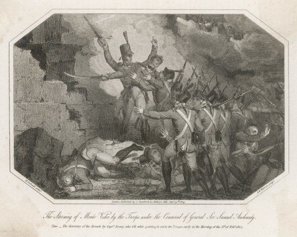 The storming of Montevideo by the troops under the command of General Sir Samuel Auchmuty