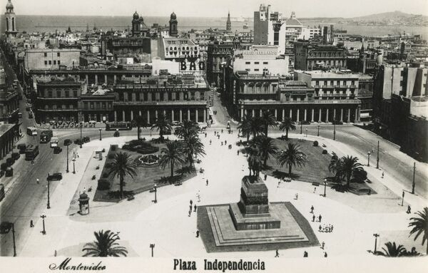 The Plaza Independencia, Montevideo, Uruguay