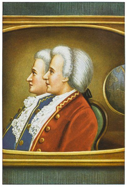 THE MONTGOLFIER BROTHERS French balloonists, Etienne and Joseph