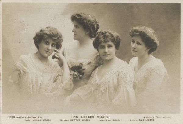 THE MOORE SISTERS Decima, Bertha, Eva and Jessie Moore, actresses