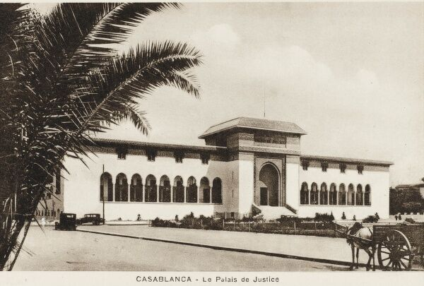 The Palace of Justice at Casablanca in western Morocco, located on the Atlantic Ocean. The capital of the Greater Casablanca region, Casablanca retains its historic position as the main industrial zone of the country