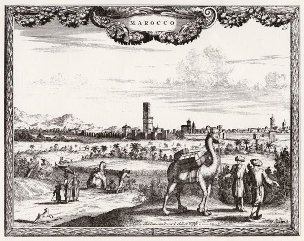 Marrakesh, Morocco, north-west Africa: general view