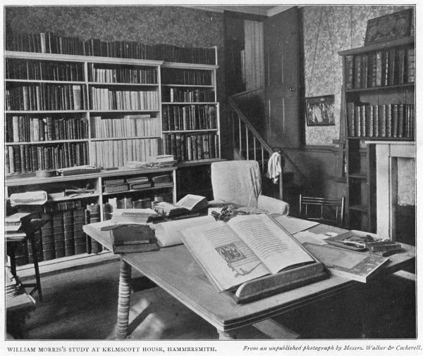 WILLIAM MORRIS English writer's study at Kelmscott House, Hammersmith, in 1901 Date: 1834 - 1896