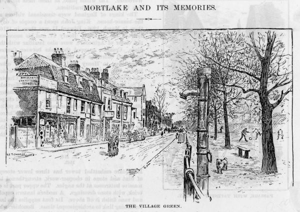 The village green at Mortlake, south west London