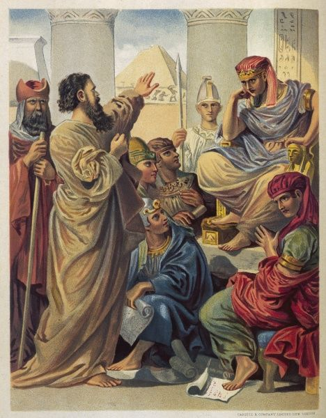 Moses and Aaron before the Pharaoh (Exodus VII)