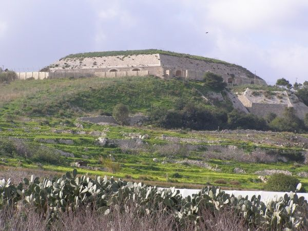 Mosta Fort, erected during the reign of Queen Victoria, outskirts of Mosta, Malta