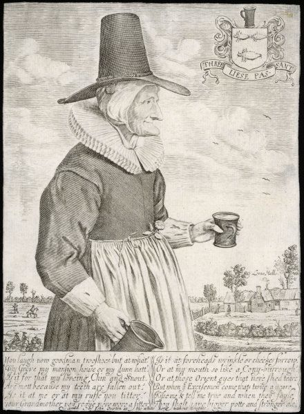 Mother Louse, alewife, proprietor of Louse Hall, near Oxford : she is said to have been the last woman in England to wear a ruff