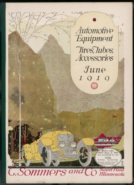 Cover of catalog of automotive equipment, including kits for converting your Ford T into a sports car, delivery van or whatever you want ; also bicycles and spare parts