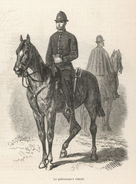 A mounted policeman on his horse in London