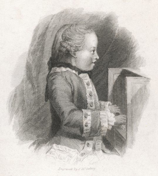WOLFGANG AMADEUS MOZART At the age of seven