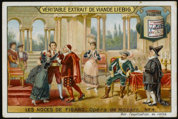 (The Marriage of Figaro) Figaro is assailed by the elderly Marcellina, who recognises him as her long- lost son by Dr Bartolo