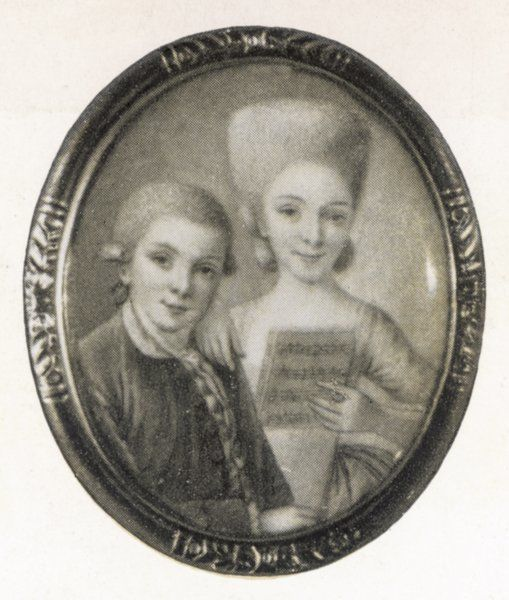 W.A.Mozart and his sister, Marianne
