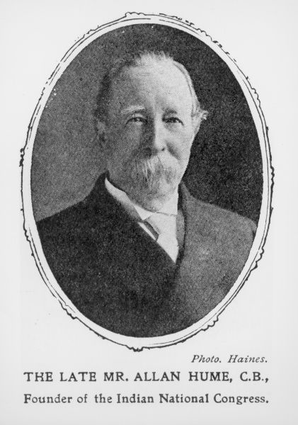 Portrait of Mr Allan Hume (1829-1912), founder of the Indian National Congress