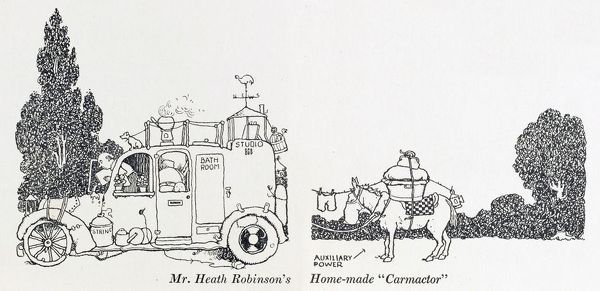 Illustration by William Heath Robinson. Please note: Credit must appear as (c) Courtesy of the estate of Mrs J.C.Robinson/Pollinger Ltd/Mary Evans Picture Library